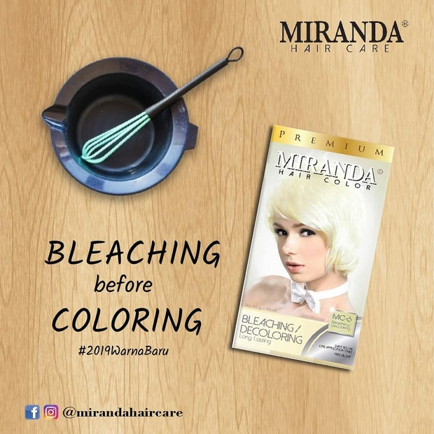 Produk bleaching rambut dari Miranda yang jadi best seller.