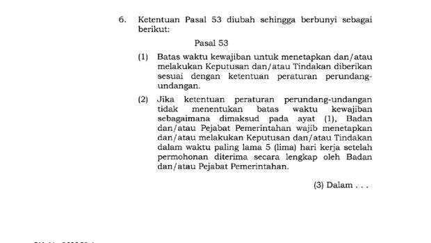 Screenshot UU Ciptaker Pasal 175