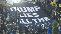 Aksi Protes di BLM Plaza: Trump Selalu Berbohong
