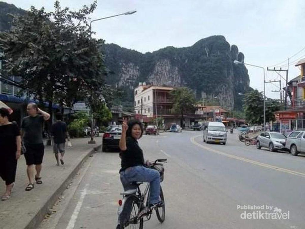 Berkeliling Kota Krabi Nanti, Coba dengan Sepeda