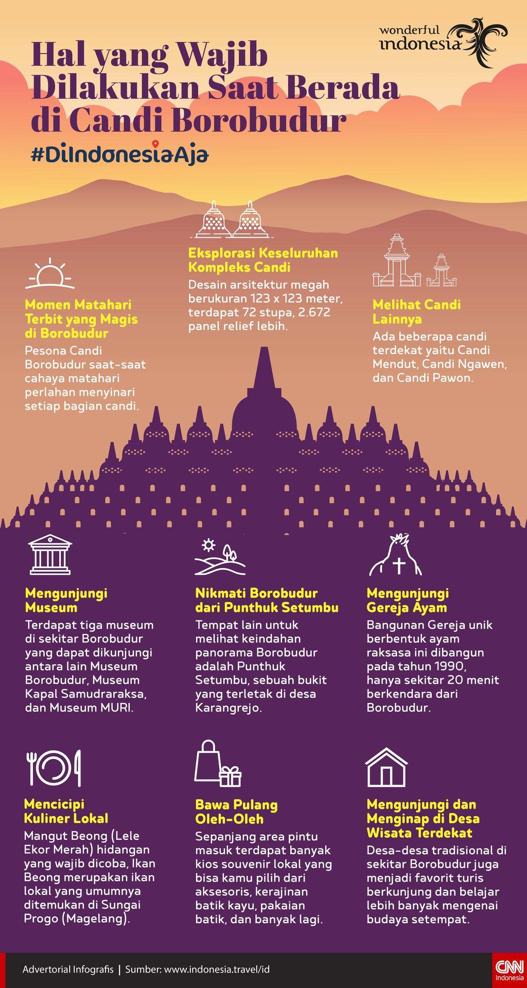 Infografis: Hal yang wajib dilakukan saat berada di Candi Borobudur