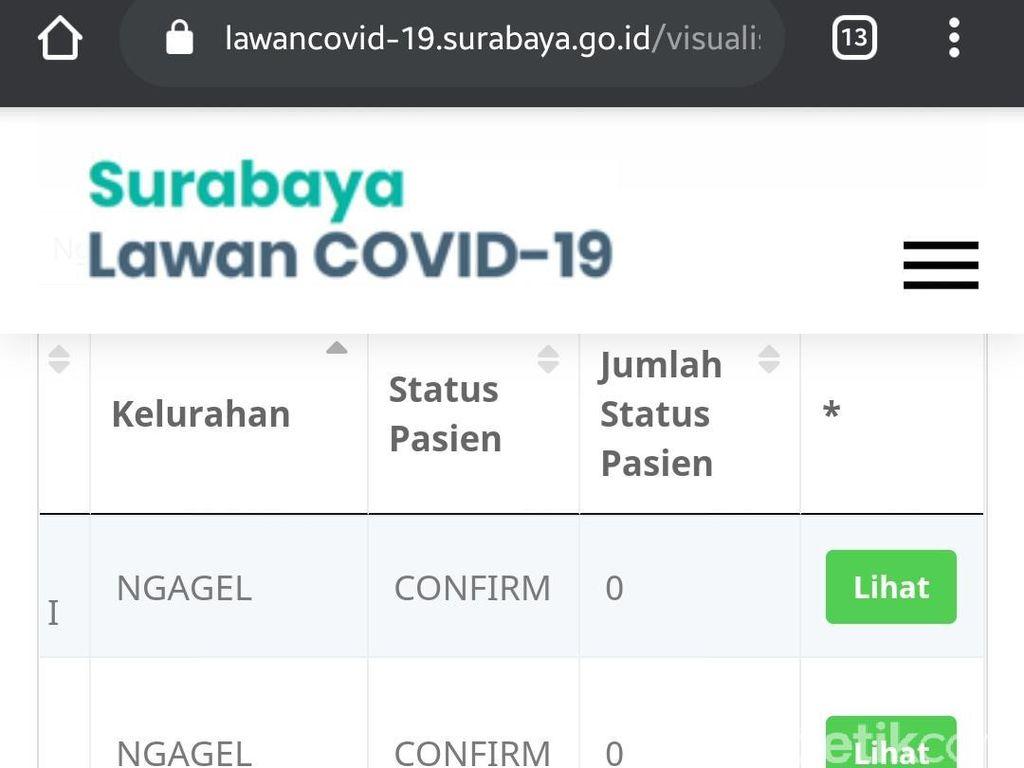 104 Kelurahan di Surabaya Nol Kasus COVID-19, Ini Detail Statistiknya