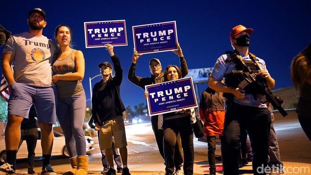 Aksi Pendukung Trump Protes Perhitungan Suara