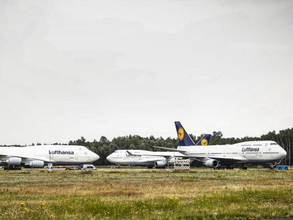 Bagaimana Ini, Enam Pesawat B747 Terdampar di Bandara Kecil