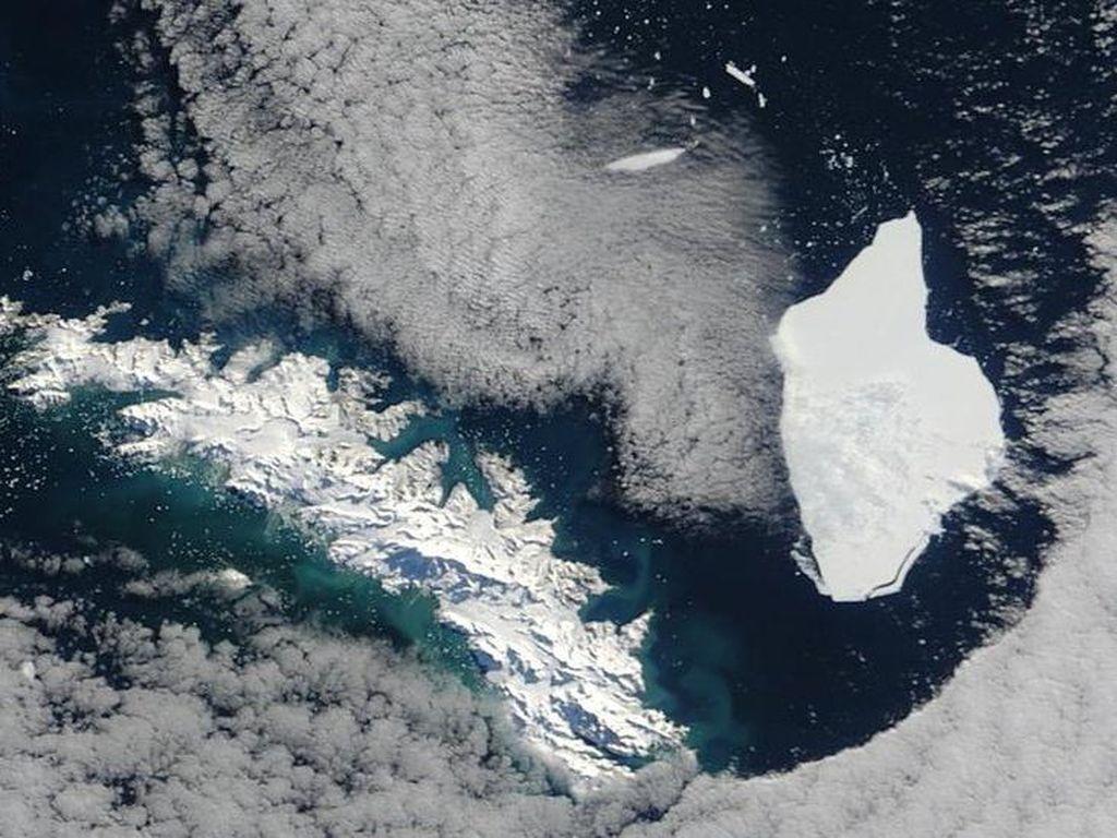 Bongkahan Es Raksasa Antartika dalam Jalur Tabrakan dengan Suaka Margasatwa