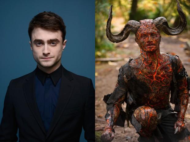 Artis berikutnya ada Daniel Radclife saat di film Horns, riasan Daniel tidak hanya untuk di wajah saja tapi hingga ke badan.