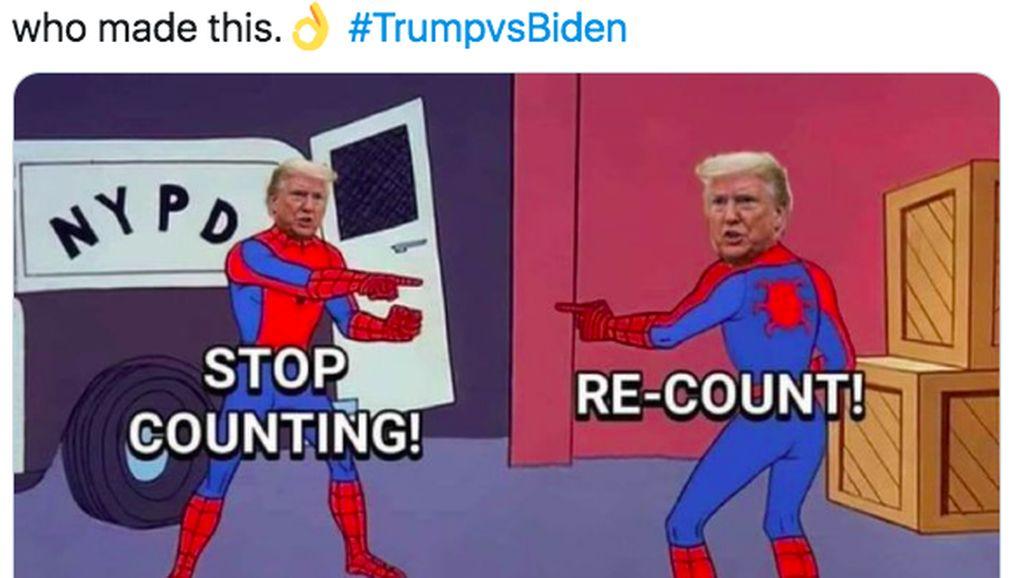 Meme Kocak Pilpres AS 2020
