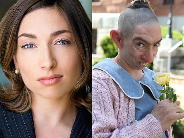 Salah satu seleb Hollywood yang berhasil menggunakan makeup memukau adalah Naomi Grossman berperan sebagai Pepper di serial American Horror Story.