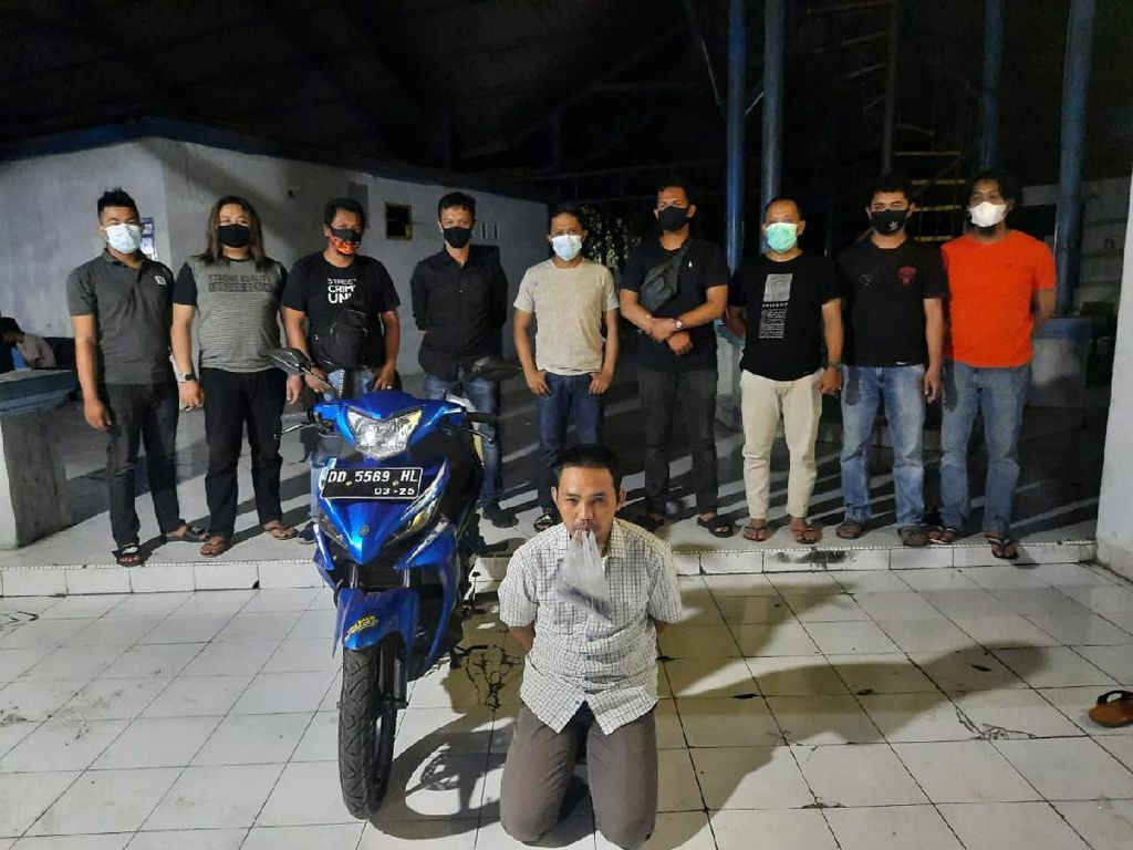 Ngaku Perwira Polisi, Residivis Narkoba di Gowa Kibuli Satpam-Gondol Motor