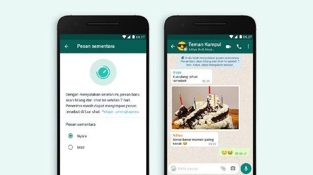 Pesan WhatsApp Terhapus Otomatis