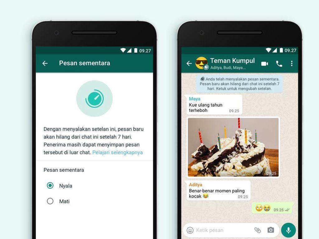 Pesan WhatsApp Sudah Bisa Terhapus Otomatis, Buruan Dicoba