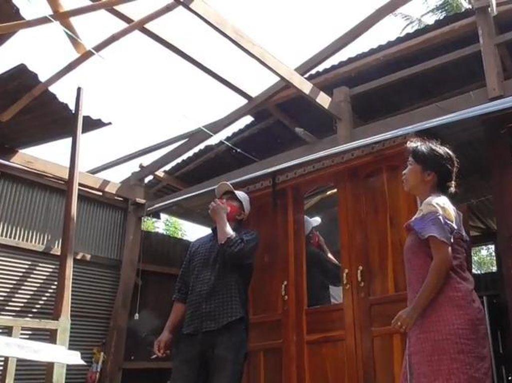Memprihatinkan, Rumah Warga Berkebutuhan Khusus di Sulbar Diterjang Angin