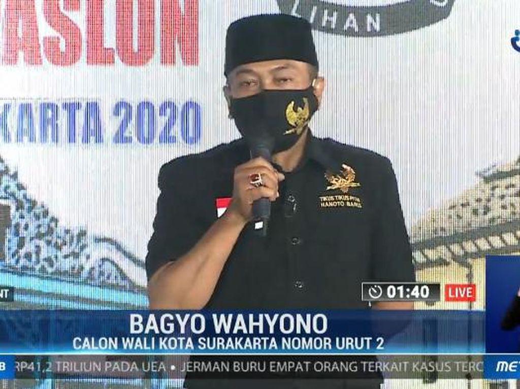 Saat Bagyo Bicara Soal Rehab Sriwedari-Keraton di Debat Pilkada Solo