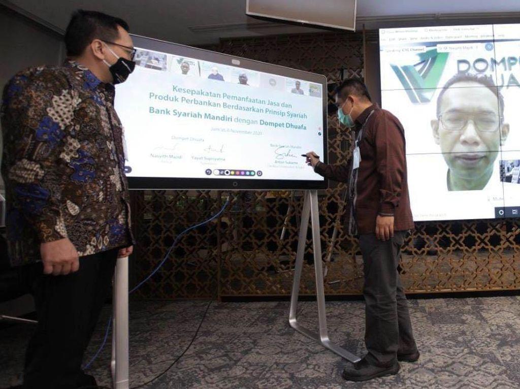 Mandiri Syariah Kolaborasi dengan Dompet Dhuafa