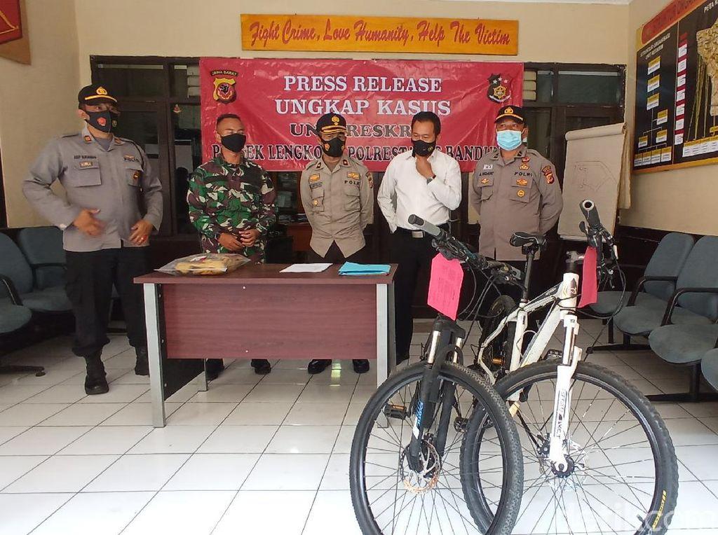 Curi Sepeda di Asrama TNI Bandung, Pelaku Beraksi Tunggal