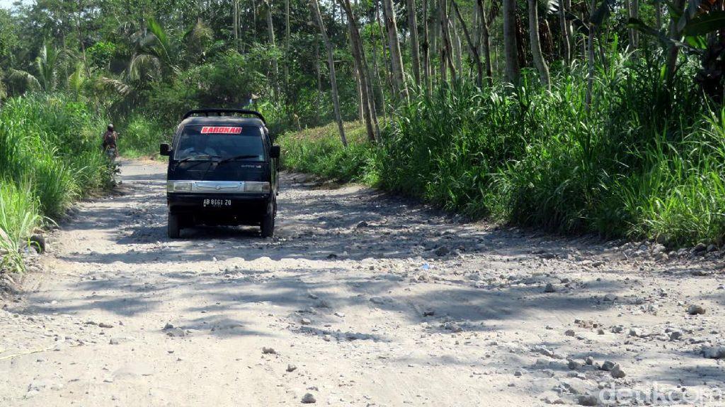 Waduh, Jalur Evakuasi Merapi di Glagaharjo Sleman Rusak