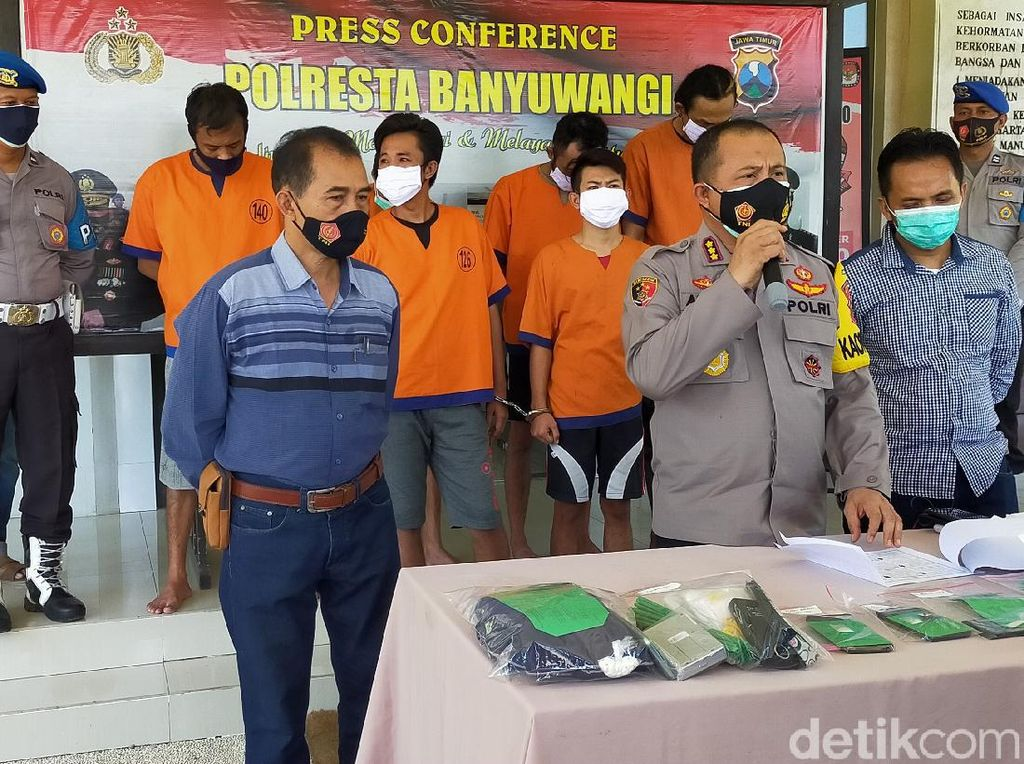 12 Kurir Narkoba Ditangkap Polisi Banyuwangi
