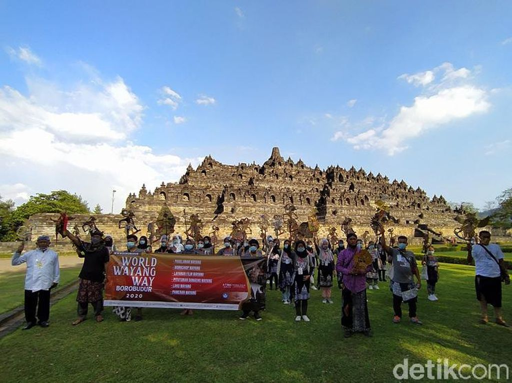 Hari Wayang Sedunia Dirayakan dengan Spesial di Candi Borobudur