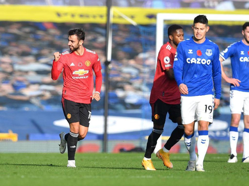 Everton Vs MU: Bruno Fernandes Luar Biasa Sekaligus Bikin Solskjaer Frustrasi