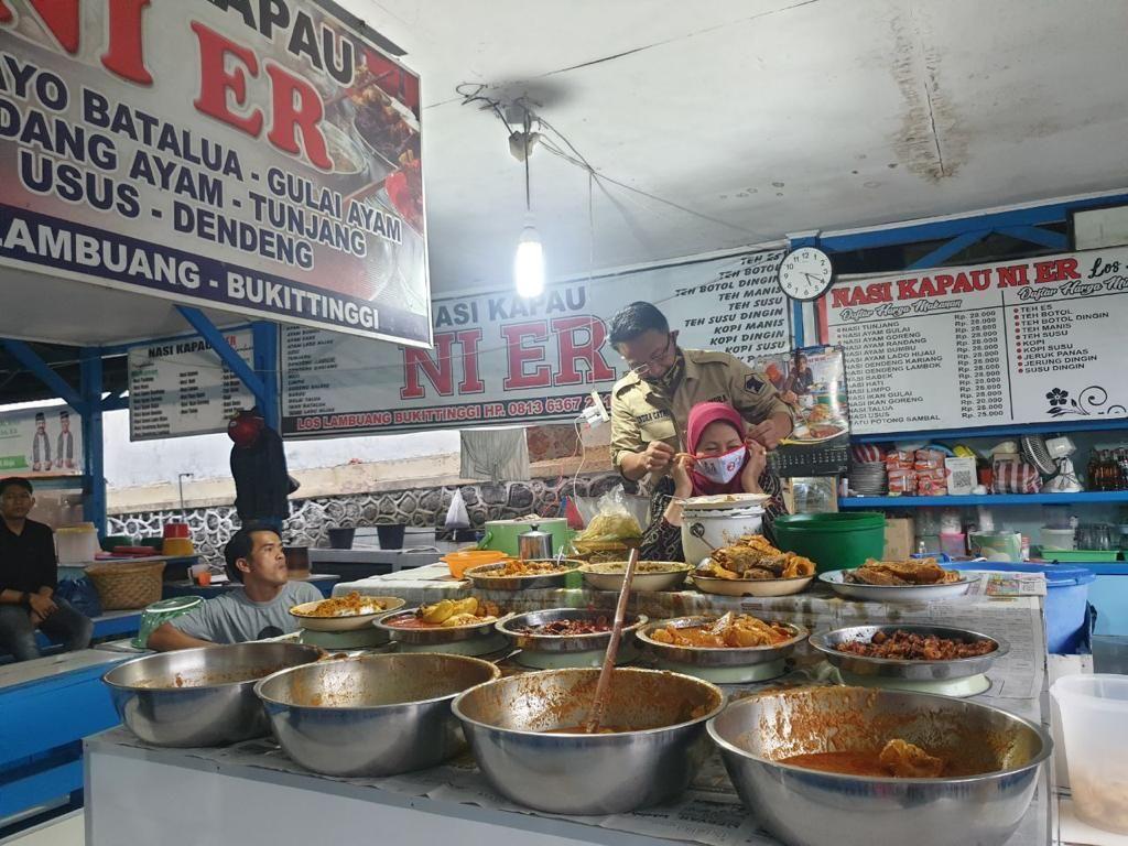 Cawagub Sumbar Indra Catri Nostalgia Keliling Pasar Ateh Bukittinggi