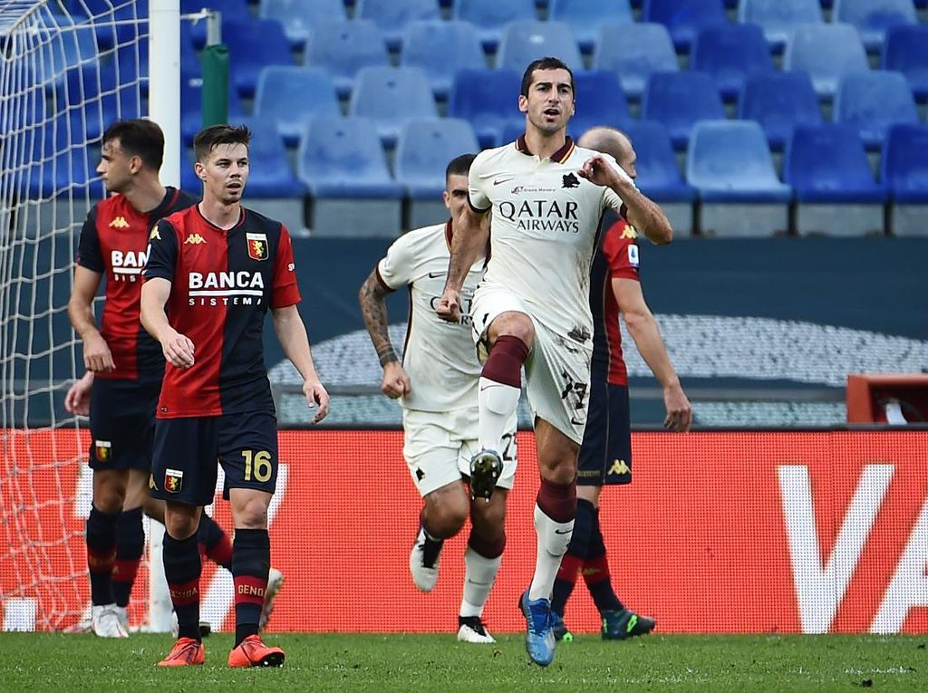 Genoa Vs Roma: Tiga Gol Mkhitaryan Menangkan Giallorossi