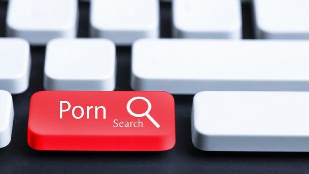 Ilustrasi Menonton Video Porno