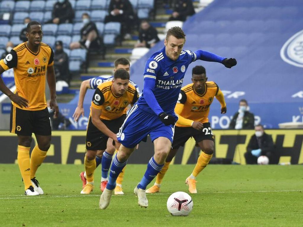 Leicester Vs Wolverhampton: Penalti Vardy Menangkan The Foxes