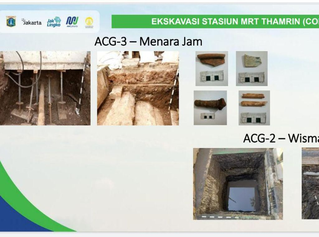 Artefak di Jalur Pembangunan MRT Thamrin-Kota dari Tanah Urukan