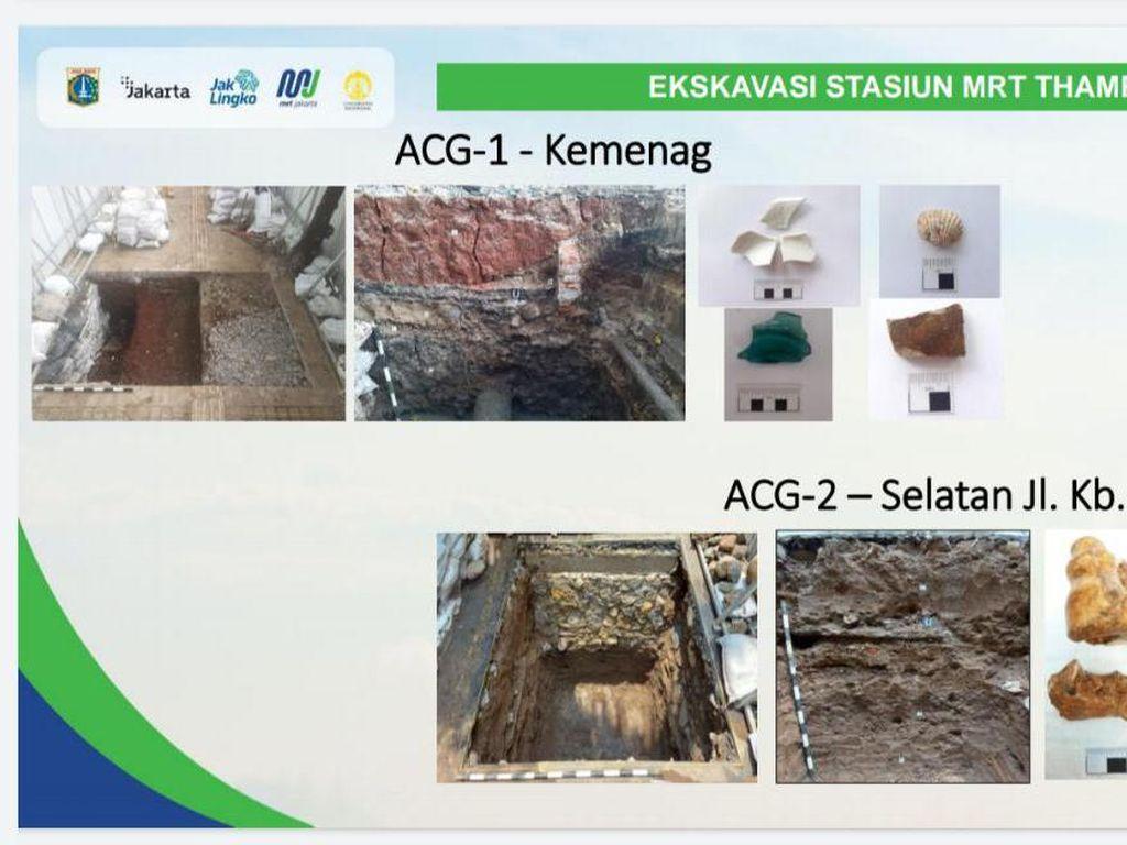 Ragam Artefak Ditemukan di Jalur Proyek MRT Fase 2 Thamrin-Kota