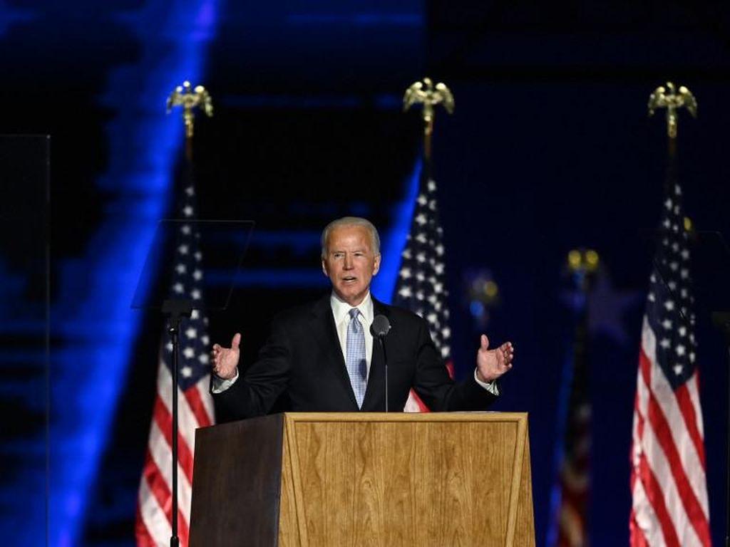 Puja-puji Joe Biden untuk Sang Istri Saat Pidato Kemenangan