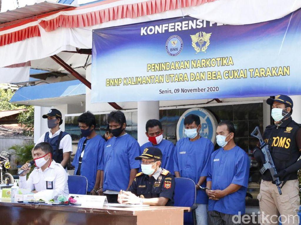 Bea Cukai-BNN Gagalkan Penyelundupan Sabu dari Malaysia, 2 Orang Ditangkap
