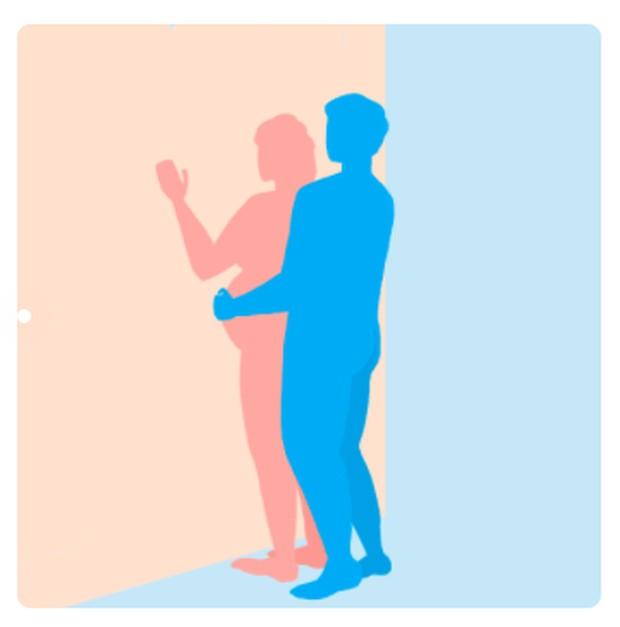 """Ibu hamil juga mungkin akan menyukai posisi berdiri dari belakang. Posisi ini dikatakan lebih """"menyenangkan"""" ini untuk awal kehamilan karena mungkin akan menjadi kurang nyaman saat bayi tumbuh."""