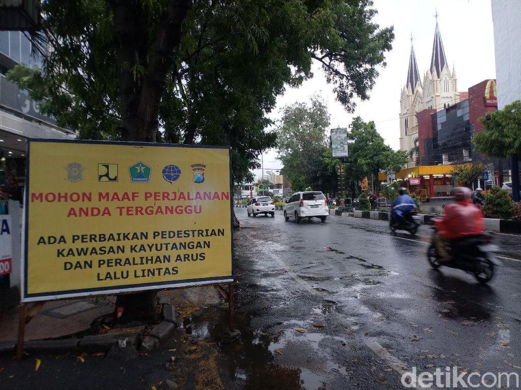Uji Coba Penutupan Koridor Kayutangan, Jalur Protokol Kota Malang Macet