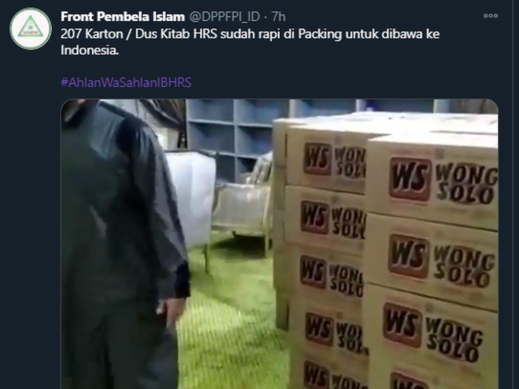 Viral Kitab Habib Rizieq Dipaket Kardus Wong Solo, Ini Kata FPI Solo