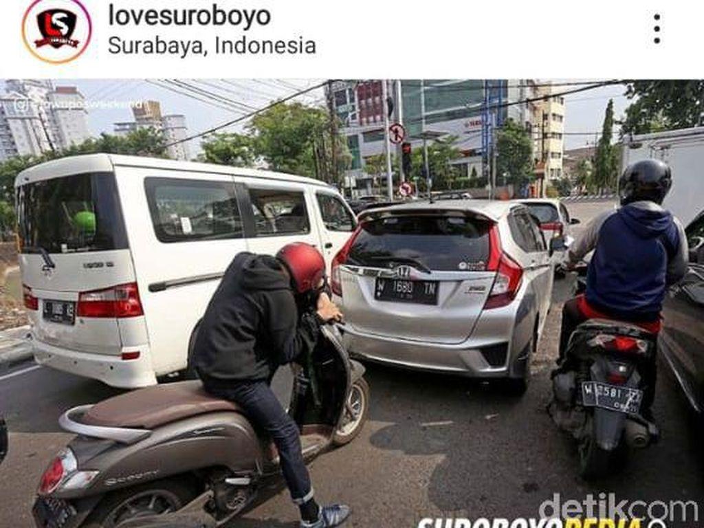 Viral Traffic Light Terlama Perenggut Masa Muda di Surabaya