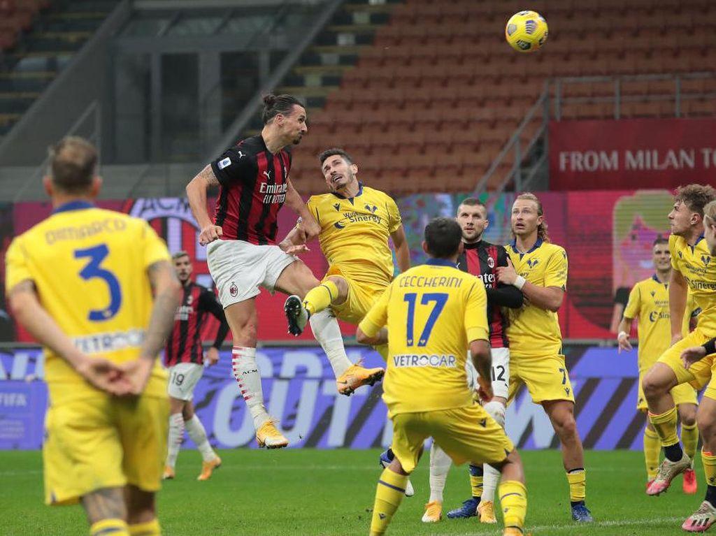 Milan Vs Verona: Gol Ibrahimovic Selamatkan Rossoneri dari Kekalahan
