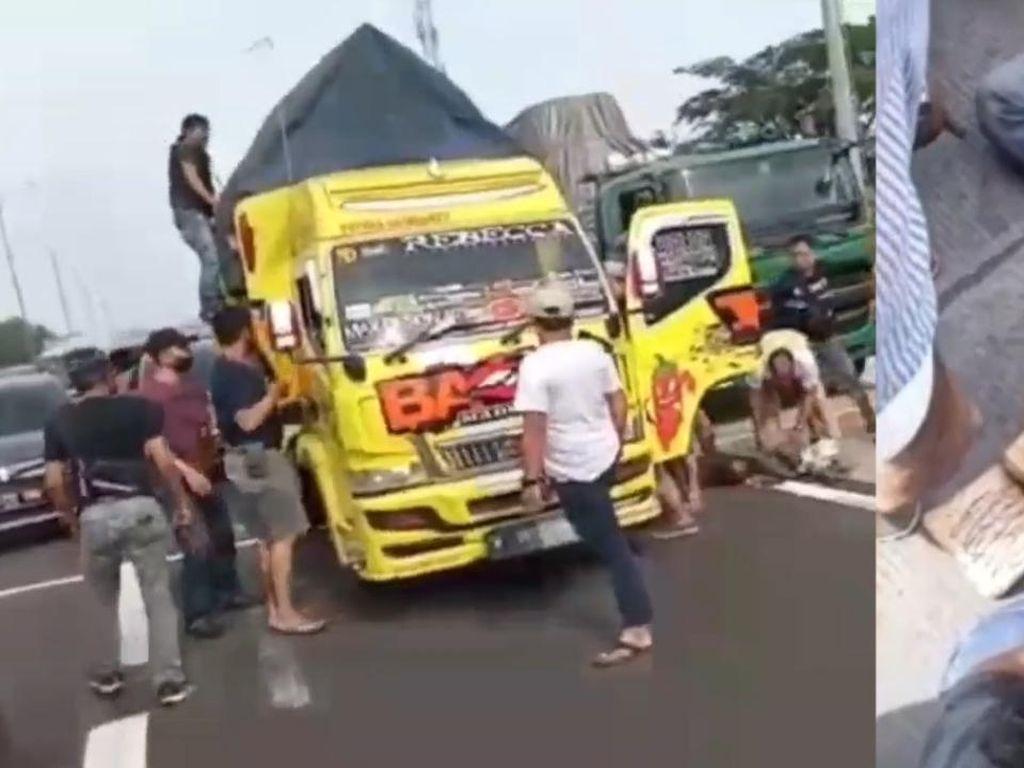 Video Detik-detik Penggerebekan Truk Bawa 10 Kg Sabu di Tol Cikampek