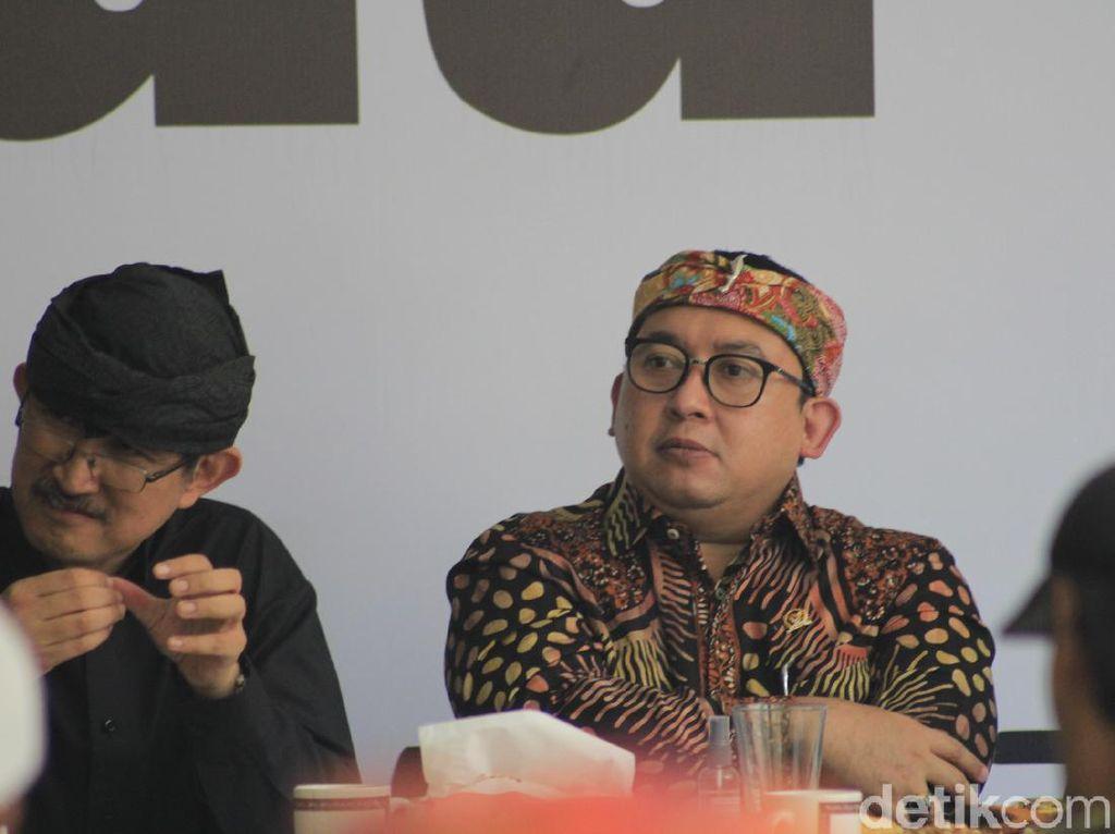 Fadli Zon Siap Bawa Usulan Provinsi Sunda ke DPR