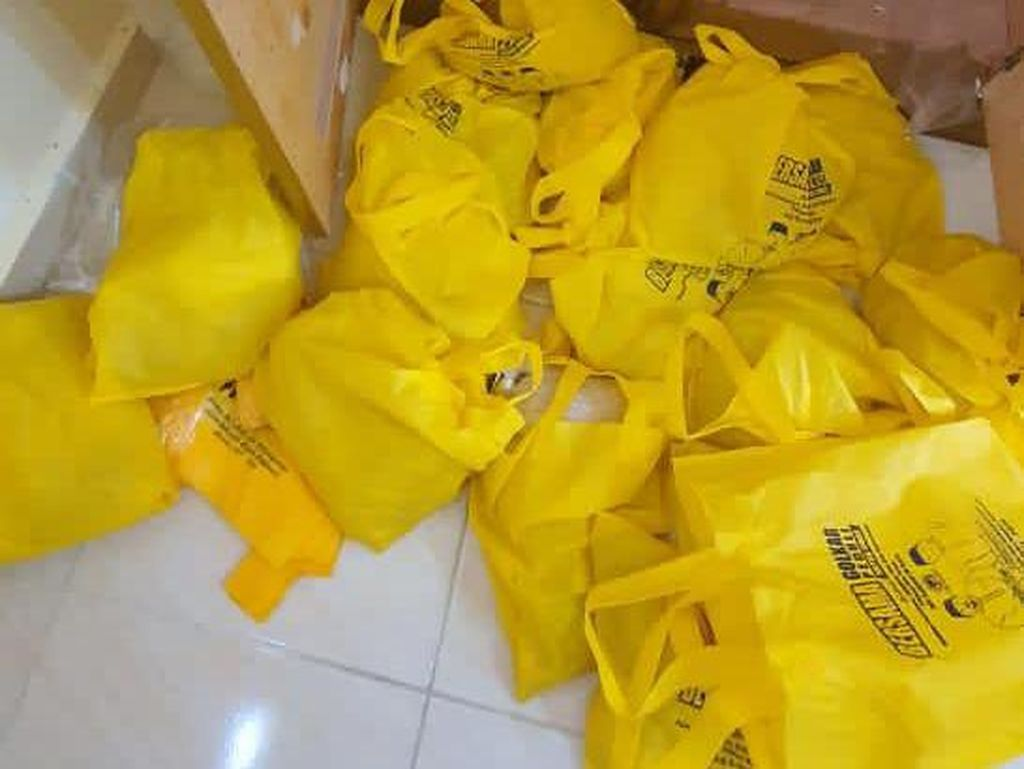 Polisi Temukan Goodie Bag Logo Golkar di Kos Tersangka Pengedar 20 Kg Sabu