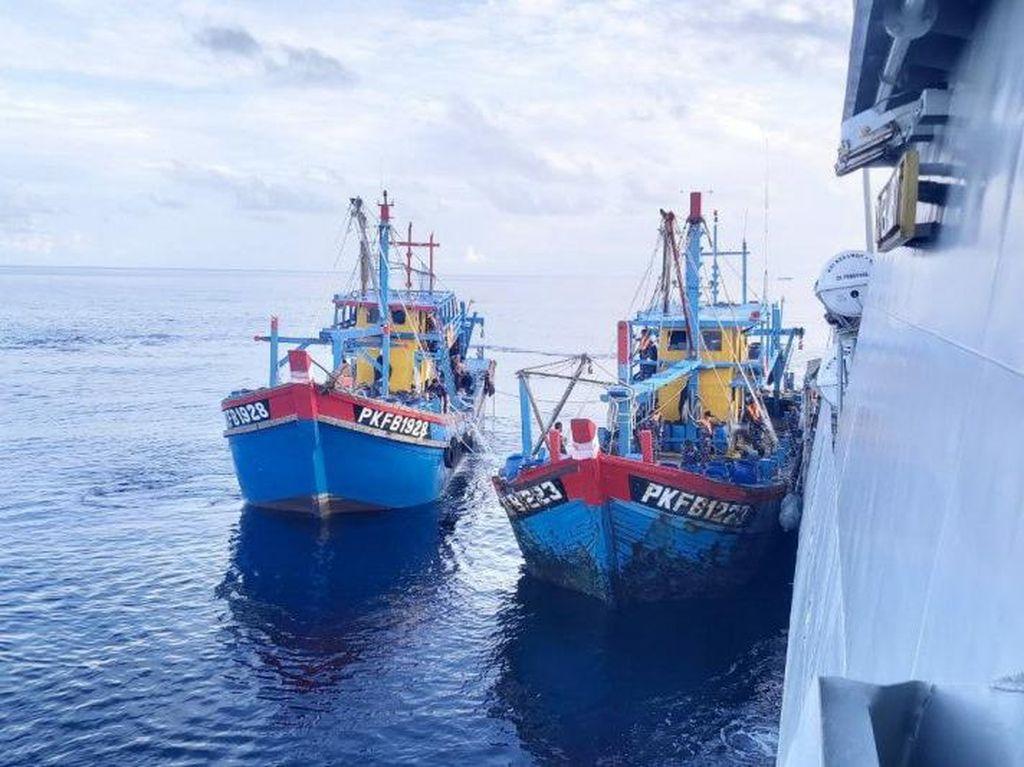 Curi Ikan di Selat Malaka, 3 Kapal Nelayan Malaysia Ditangkap TNI AL