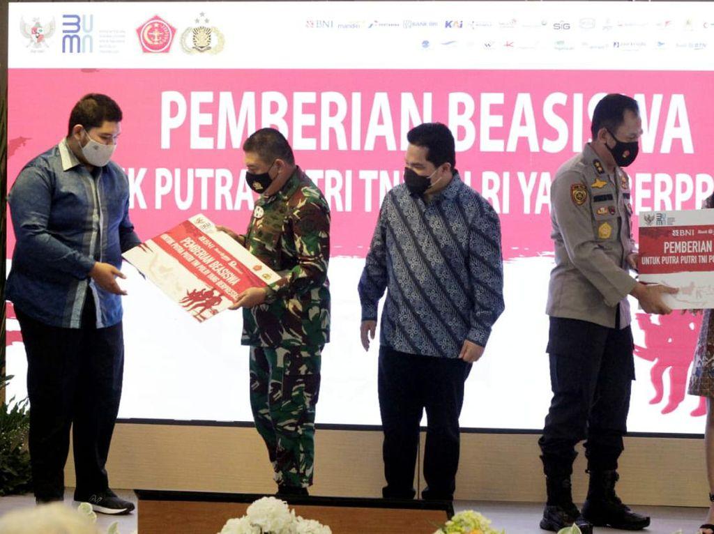 Berprestasi, 2.200 Anak TNI-Polri Raih Dana Pendidikan BUMN
