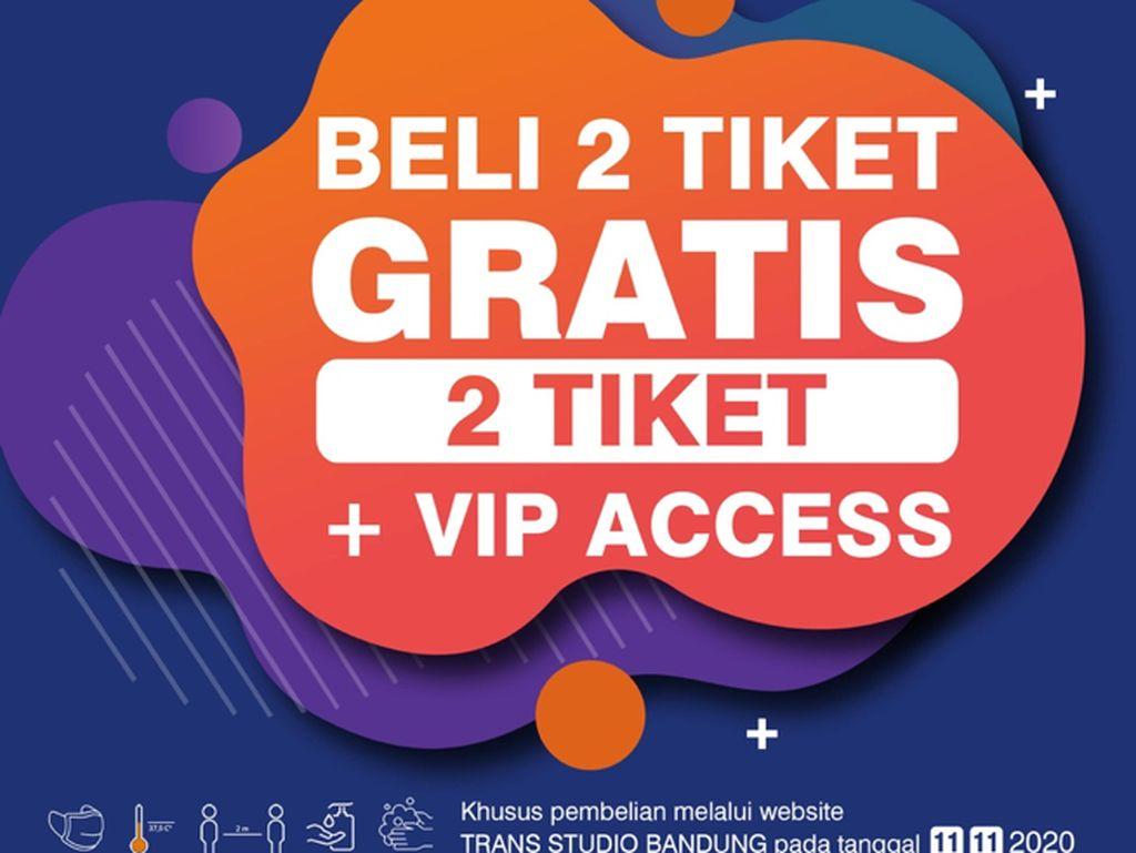 Nikmati Promo 11.11 Trans Studio Bandung, Buy 2 Get 2 + 1 VIP Access