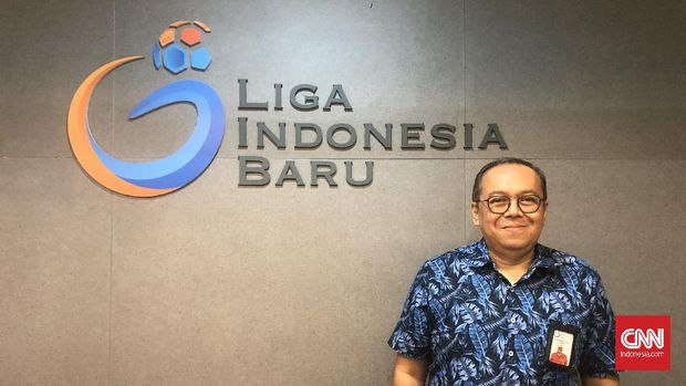 Direktur Utama PT Liga Indonesia Baru (LIB) Hadian Lukita.
