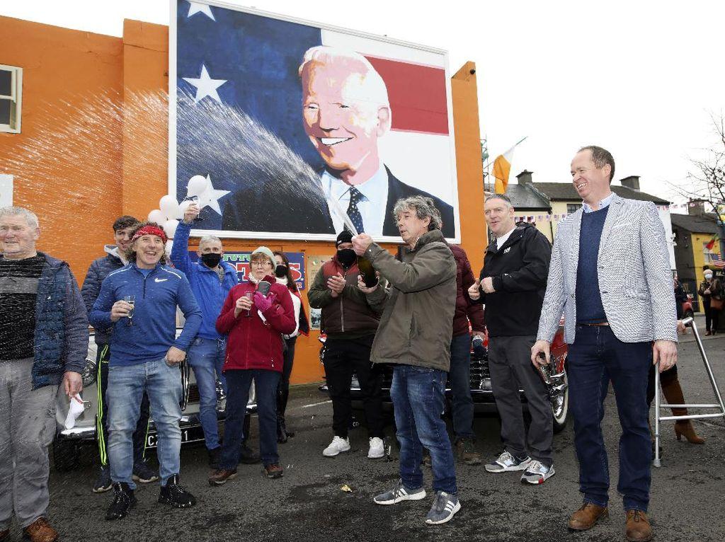 Joe Biden Menang Pilpres AS 2020, Kota Kecil di Irlandia Berpesta