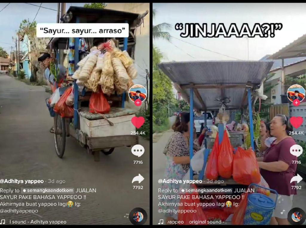 Viral Video Emak-emak Belanja Sayur Pakai Bahasa Korea-Indonesia