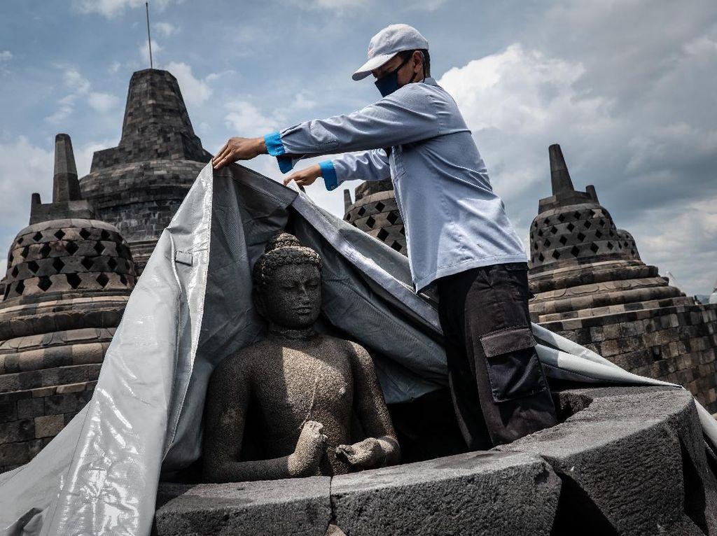 Begini Persiapan Candi Borobudur Antisipasi Erupsi Merapi