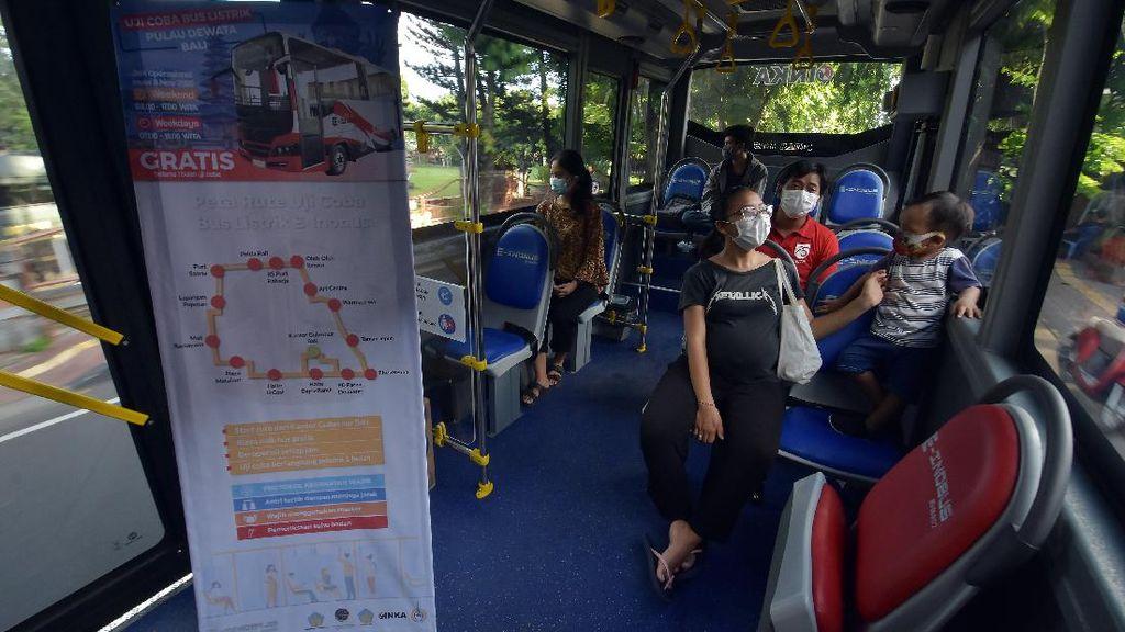 Jadi Solusi Kurangi Polusi, Bus Listrik Mulai Mengaspal di Bali
