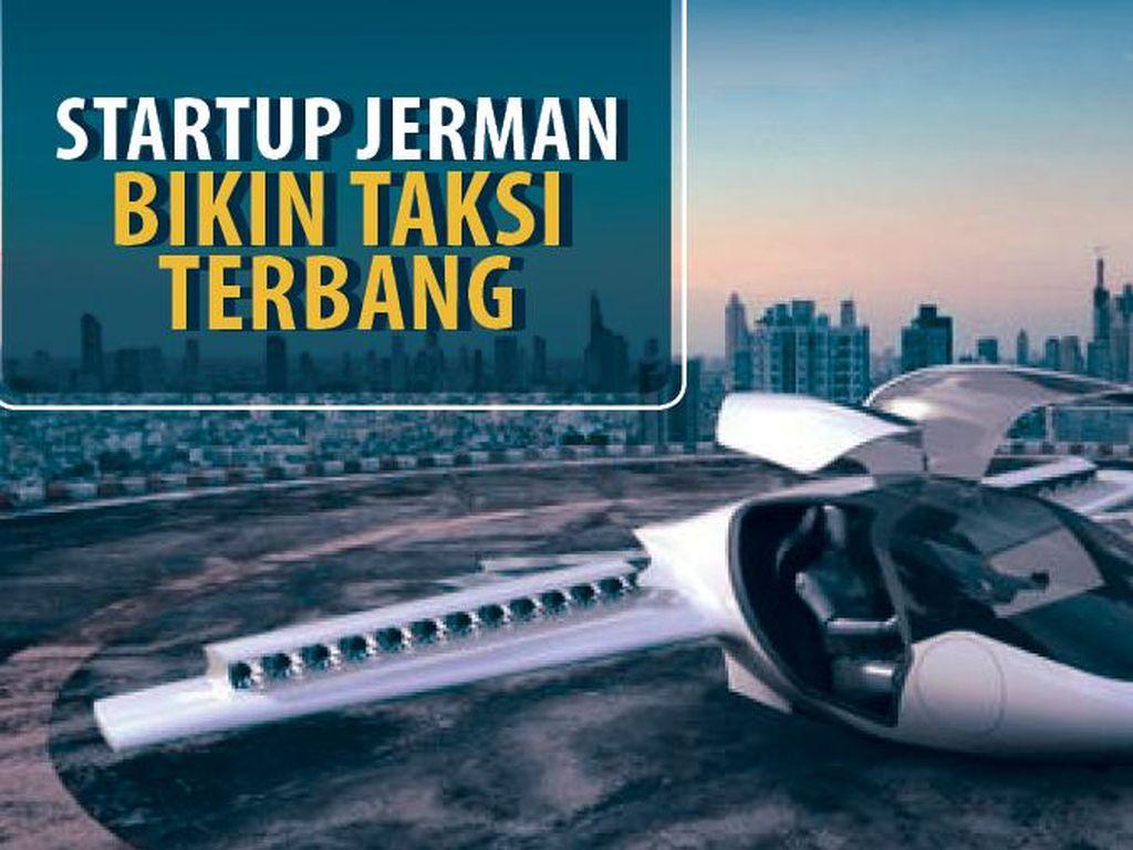 Startup Jerman Bikin Taksi Terbang