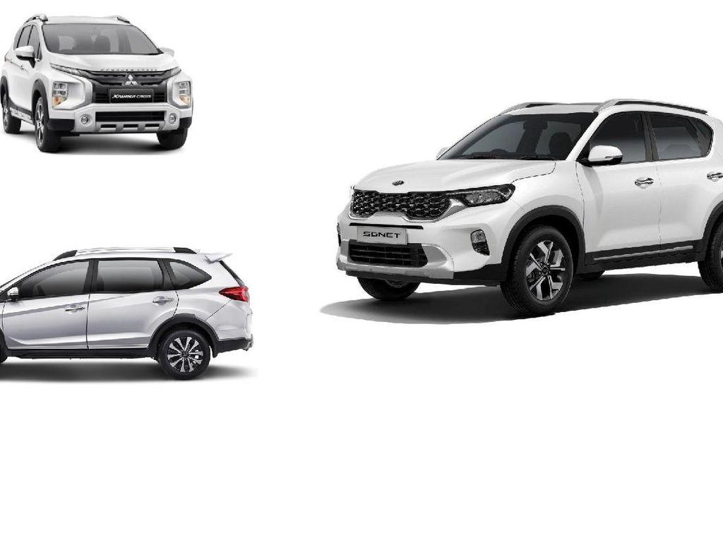 Punya Duit Rp 290 Jutaan, Pilih KIA Sonet, Honda BR-V, Atau Xpander Cross?
