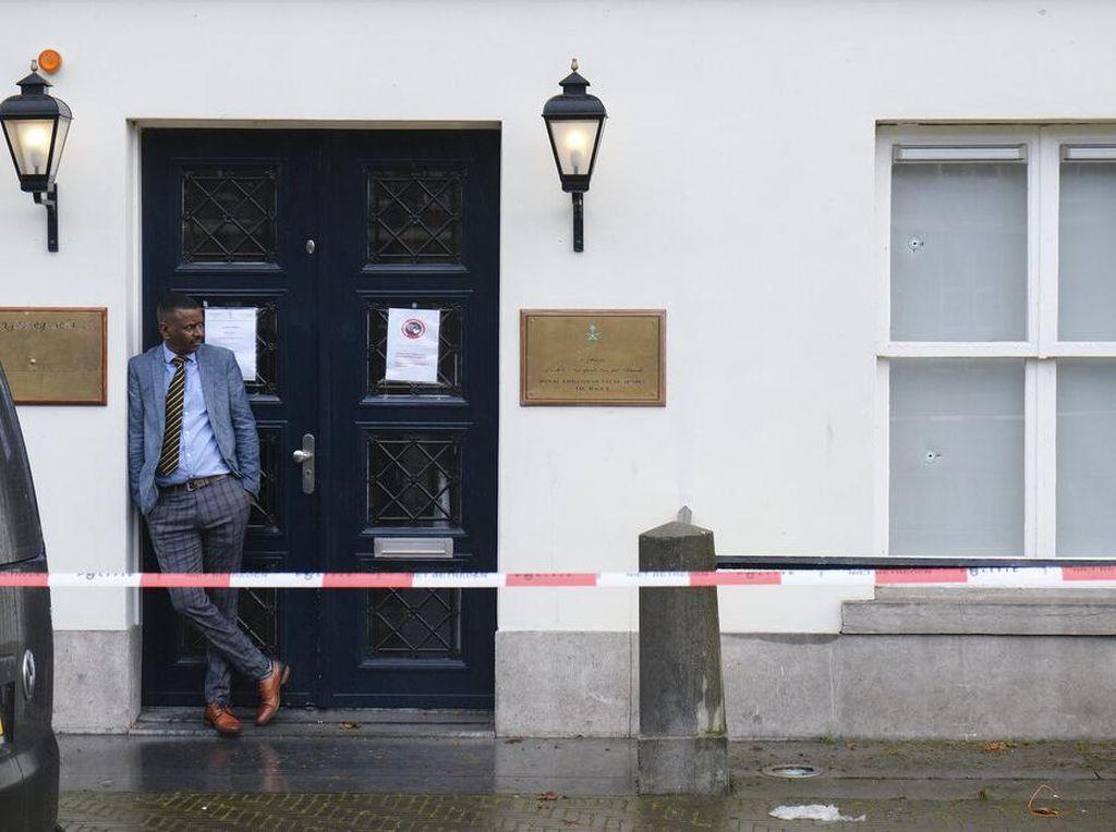 Penampakan Gedung Kedubes Arab Saudi yang Ditembaki di Belanda